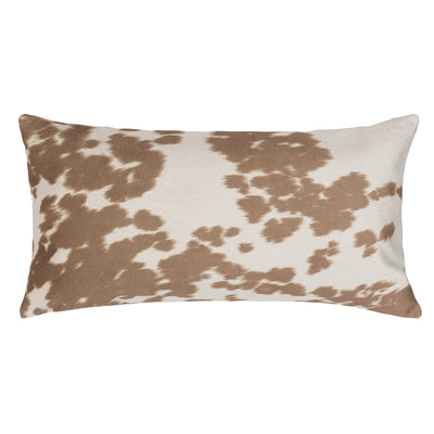 Chestnut Cowhide Throw Pillow