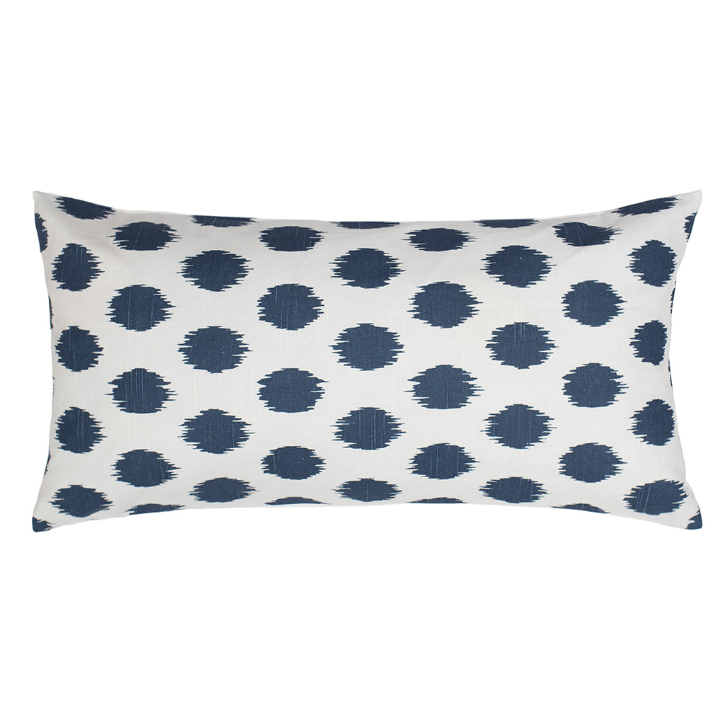Bedroom inspiration and bedding decor | Dusk Blue Ikat Dot Throw Pillow Duvet Cover | Crane and Canopy