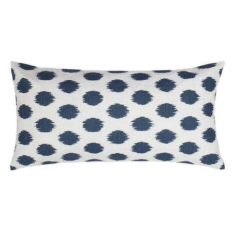 The Dusk Blue Ikat Dot Throw Pillow