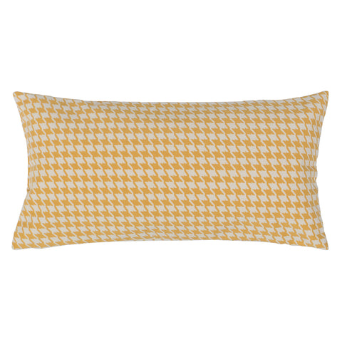 Bedroom inspiration and bedding decor | The Marigold Houndstooth Throw Pillow | Crane and Canopy