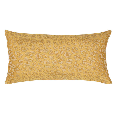 The Gold Leopard Print Throw Pillow