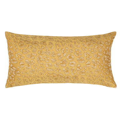 Gold Leopard Print Throw Pillow