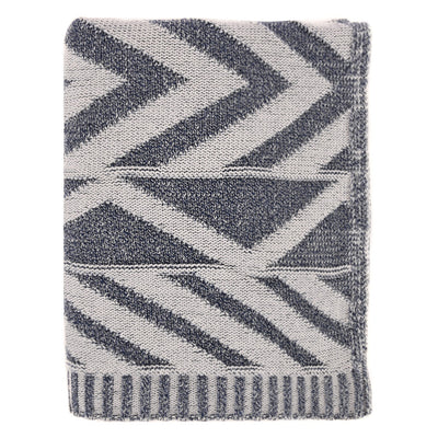 Grey Aztec Throw