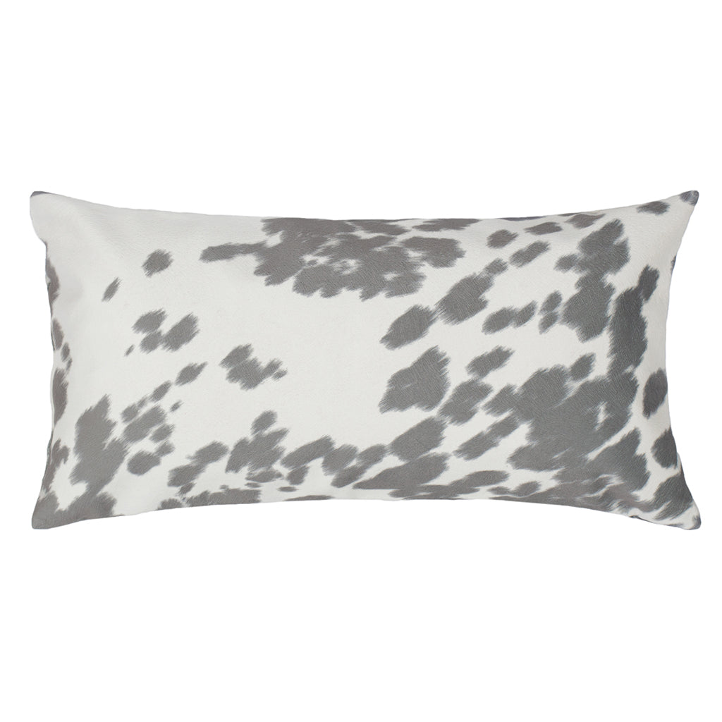 Bedroom inspiration and bedding decor | The Grey Cowhide Throw Pillows | Crane and Canopy