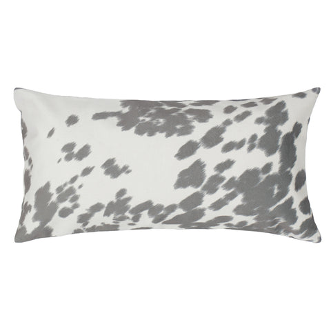 The Grey Cowhide Throw Pillow