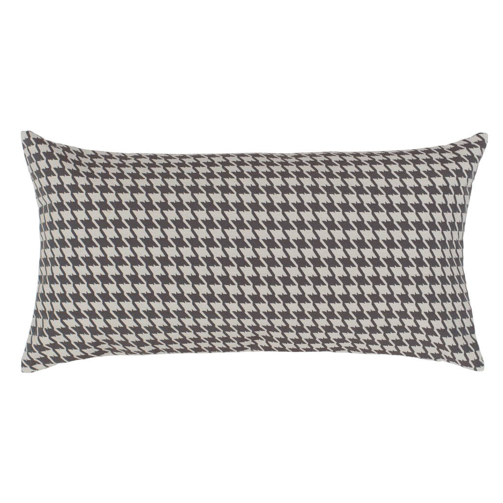 Bedroom inspiration and bedding decor | The Grey Houndstooth Throw Pillows | Crane and Canopy