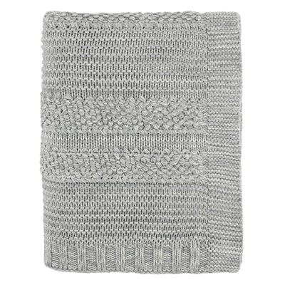 Grey Multi-Textured Throw
