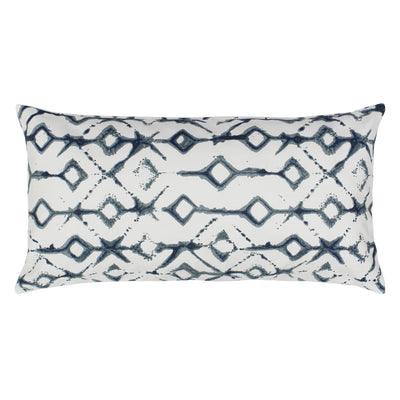Grey Shibori Throw Pillow