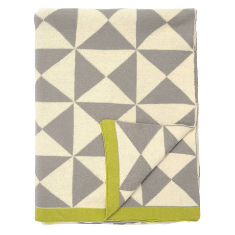 The Gray Wind Farm Patterned Throw