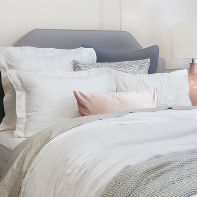 Bedroom inspiration and bedding decor | The Lane White Linen Duvet Cover Duvet Cover | Crane and Canopy