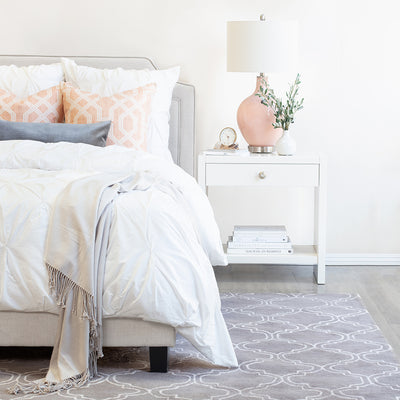 Bedroom inspiration and bedding decor | The Lattice Wool Rug Duvet Cover | Crane and Canopy