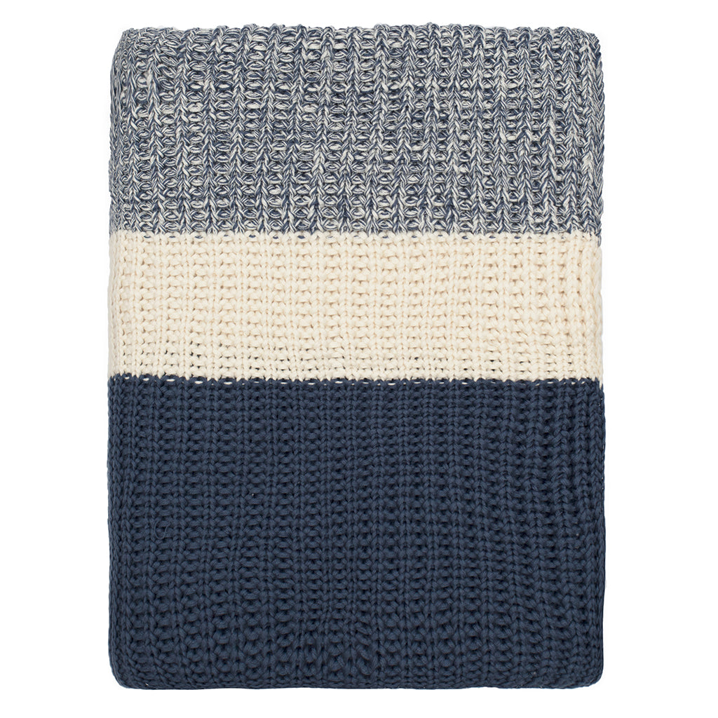 Bedroom inspiration and bedding decor | The Navy Banded Edge Throw | Crane and Canopy