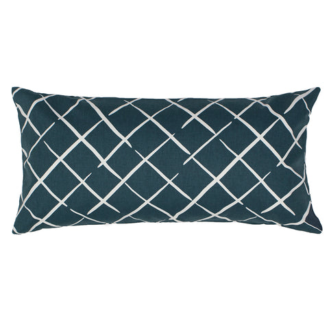 The Navy Diamonds Throw Pillow