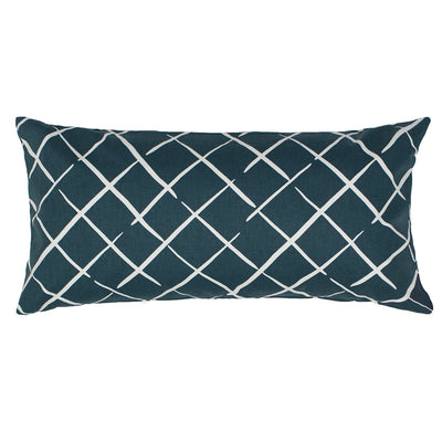 Navy Diamonds Throw Pillow