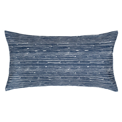 Navy Scribble Throw Pillow