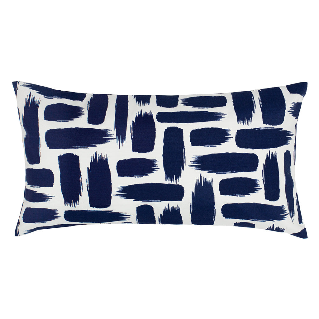 Bedroom inspiration and bedding decor | The Navy Strokes Throw Pillows | Crane and Canopy