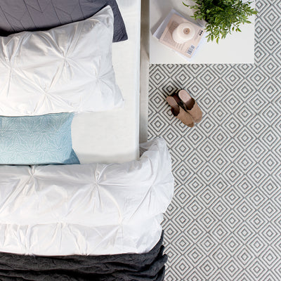 Bedroom inspiration and bedding decor | The Pacifica Diamond Rug Duvet Cover | Crane and Canopy