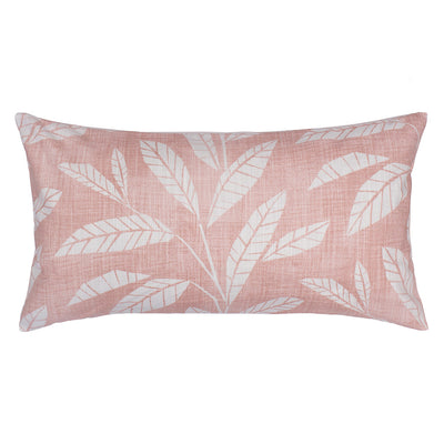 Pink Fern Throw Pillow