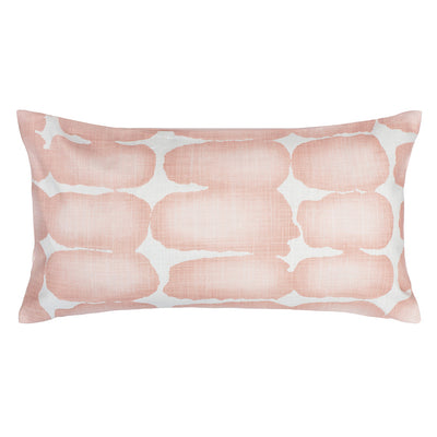 Pink Shibori Brush Throw Pillow