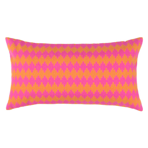 Bedroom inspiration and bedding decor | The Pink and Orange Tempo Throw Pillow | Crane and Canopy