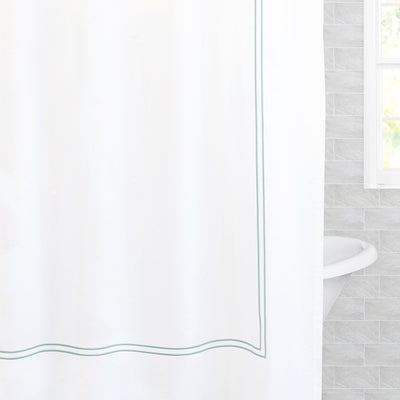 The Lines Embroidered Shower Curtain