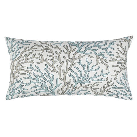 The Sea Glass and Beige Reef Throw Pillow