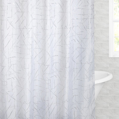 Bedroom inspiration and bedding decor | The Silver Scribbles Shower Curtain Duvet Cover | Crane and Canopy