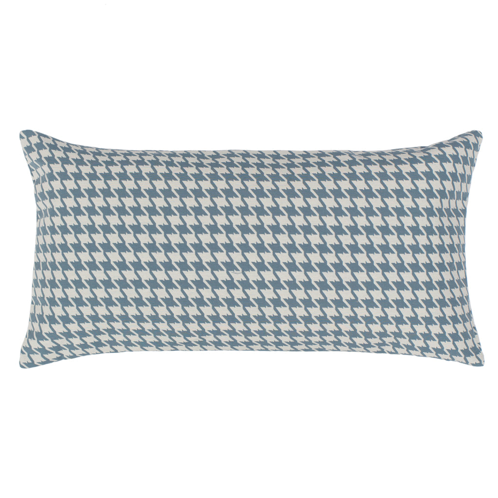 Bedroom inspiration and bedding decor | The Teal Houndstooth Throw Pillows | Crane and Canopy