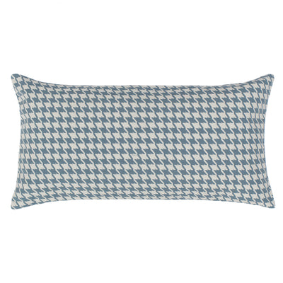 Teal Houndstooth Throw Pillow