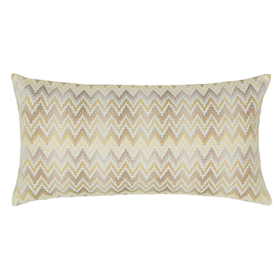 Yellow Embroidered Chevron Throw Pillow