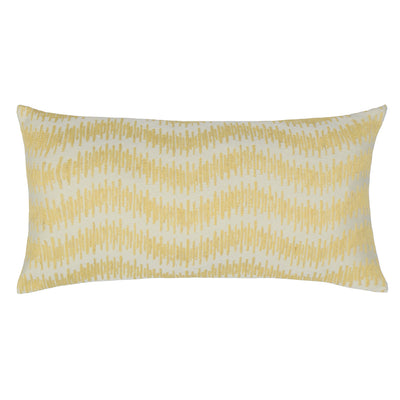 Yellow Ribbon Embroidered Throw Pillow