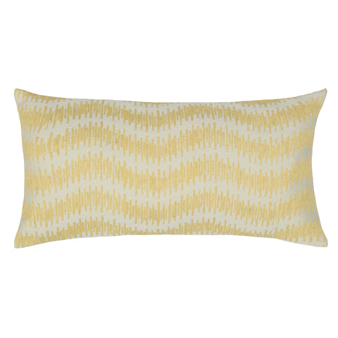 The Yellow Ribbon Embroidered Throw Pillow