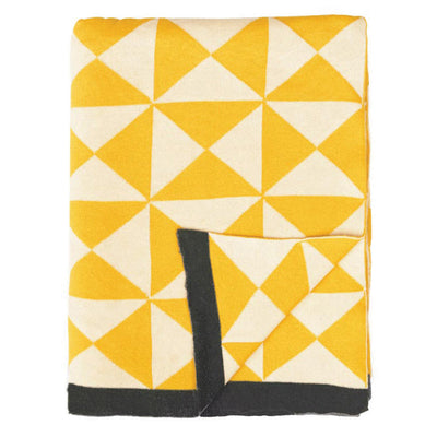 Yellow Wind Farm Patterned Throw