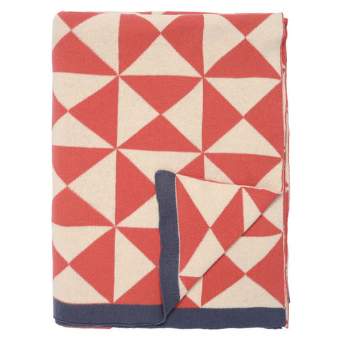 The Coral Wind Farm Patterned Throw