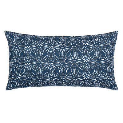 Trillium Navy Throw Pillow
