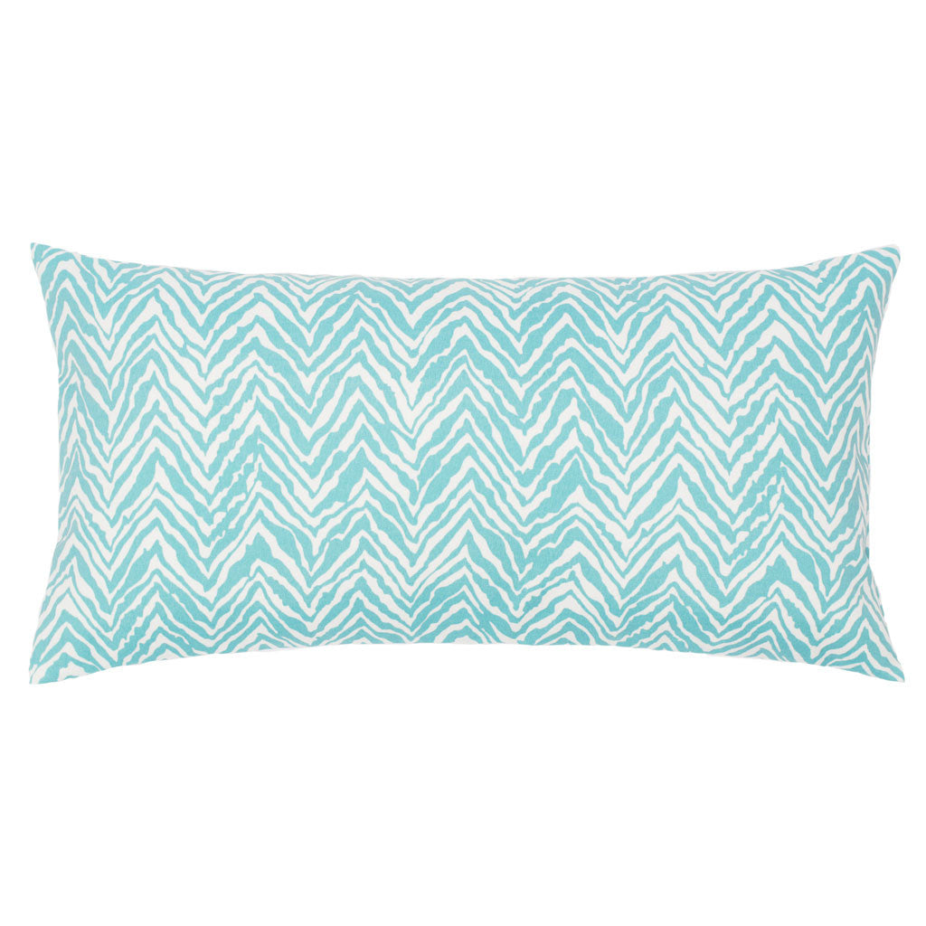 Bedroom inspiration and bedding decor | The Turquoise Zebra Chevron Throw Pillows | Crane and Canopy