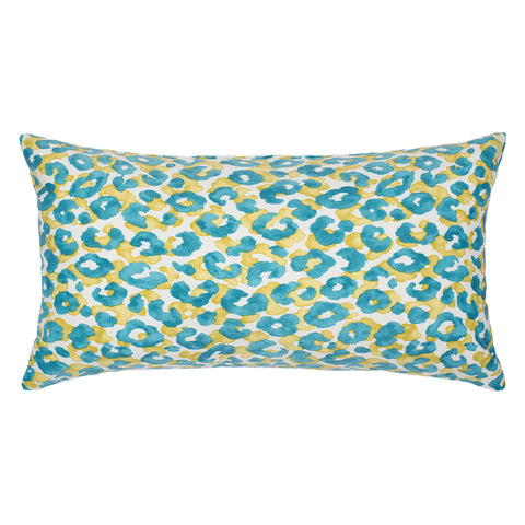 The Turquoise Leopard Throw Pillow