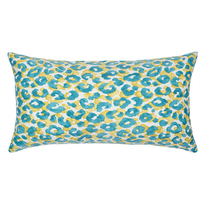 Turquoise Leopard Throw Pillow