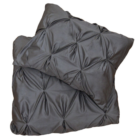 Bedroom inspiration and bedding decor | The Valencia Pintuck Charcoal Gray Duvet Cover Duvet Cover | Crane and Canopy