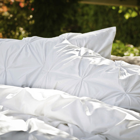 The Valencia White Pintuck Duvet Cover