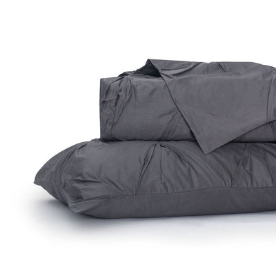 Charcoal Grey Valencia Pintuck Duvet Cover