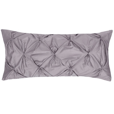 English Grey Pintuck Throw Pillow
