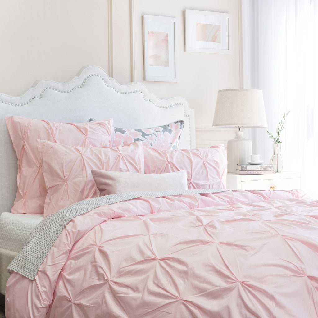 Blush Duvet Cover The Valencia Pink Crane Canopy