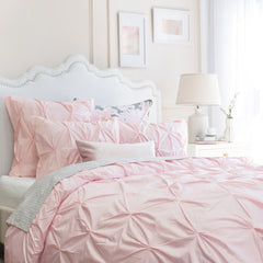 Bedroom inspiration and bedding decor | The Valencia Pink Pintuck | Crane and Canopy
