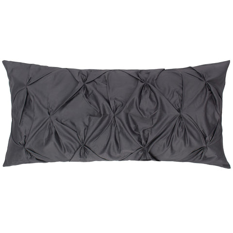 Bedroom inspiration and bedding decor | The Charcoal Grey Pintuck Throw Pillow | Crane and Canopy
