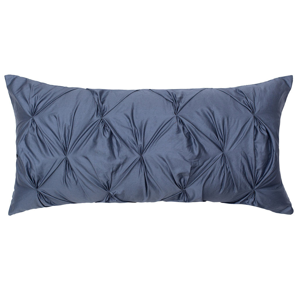 Slate Blue Throw Pillow Crane Canopy
