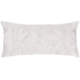 White Pintuck Throw Pillow