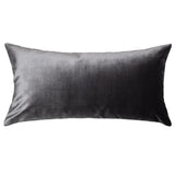 Charcoal Grey Velvet Throw Pillow