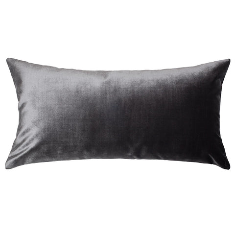 The Charcoal Grey Velvet Throw Pillow Crane Canopy