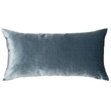 Marine Teal Velvet Throw Pillow